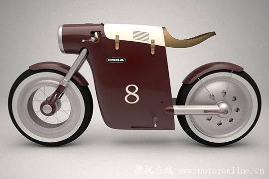 经典摩托车元素 monocasco电动自行车