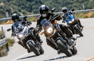 本田NC700X、川崎Versys 650 ABS和铃木V-Strom 650 ABS三款中级休旅摩托车对比测试