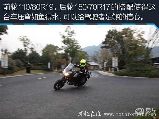 试铃木V-Strom 650摩托车 动力猛/操控好