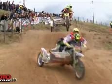 超级边三轮越野摩托车和三轮越野摩托 边车和骑士